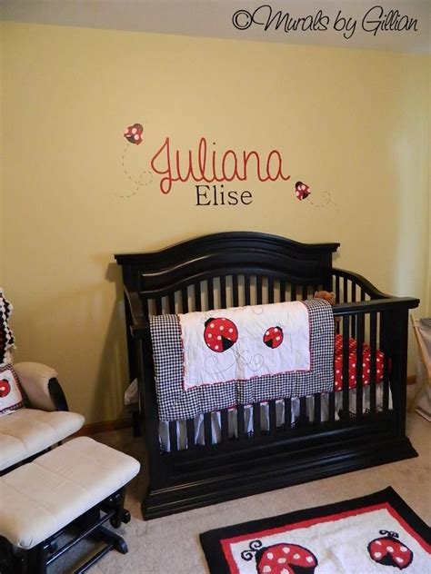Ladybug Nursery Decor Juliana Ladybug Nursery Theme Mural Murals Custom By Gillian 169 Pinterest Nursery