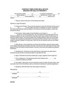 contract for sale of property template contract employing real estate broker for sale of property