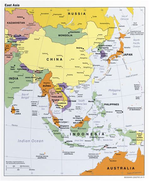 political map of asia large detailed political map of east asia 2011 vidiani