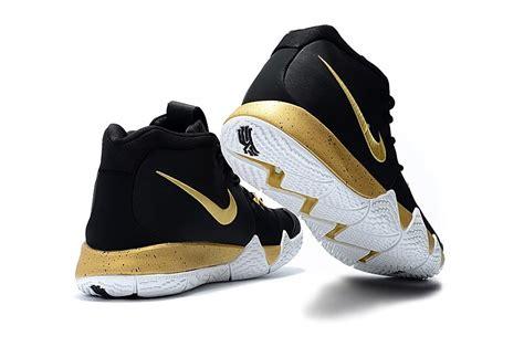 Sepatu Basket Nike Kyrie 4 Black White black gold white nike kyrie 4 signature shoes