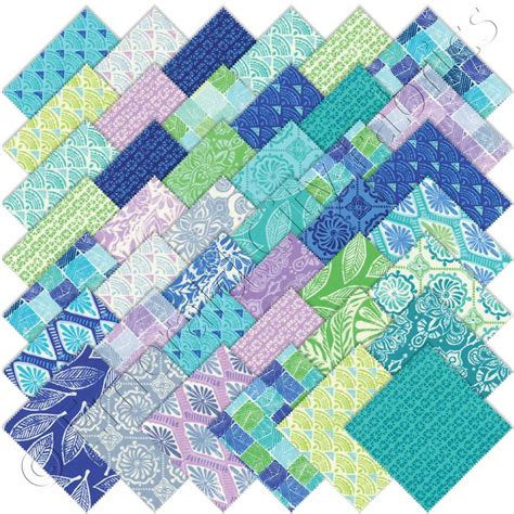 Quilt Fabrics by Moda Kate Spain Horizon Charm Pack Emerald City Fabrics