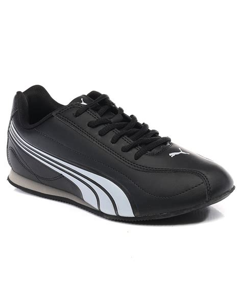 black sports shoes price in india buy black