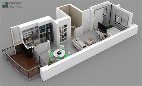 plantas 3d edificio san martin renders arquitectura
