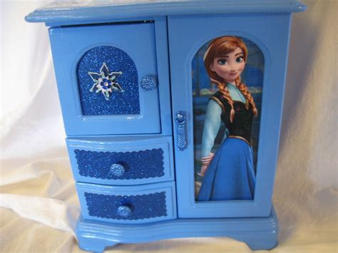 frozen bedroom in a box disney s frozen anna and elsa upcycled jewelry trinket