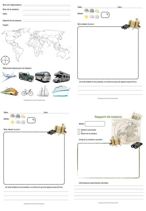 Modèle Carnet De Voyage à Imprimer