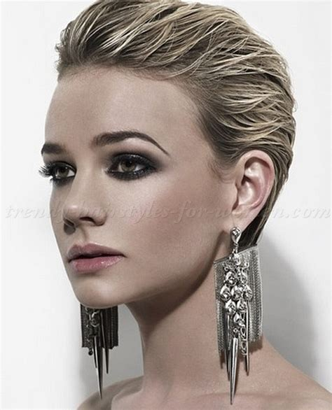 short hairstyles   slicked back hairstyle for women   trendy hairstyles for women.com