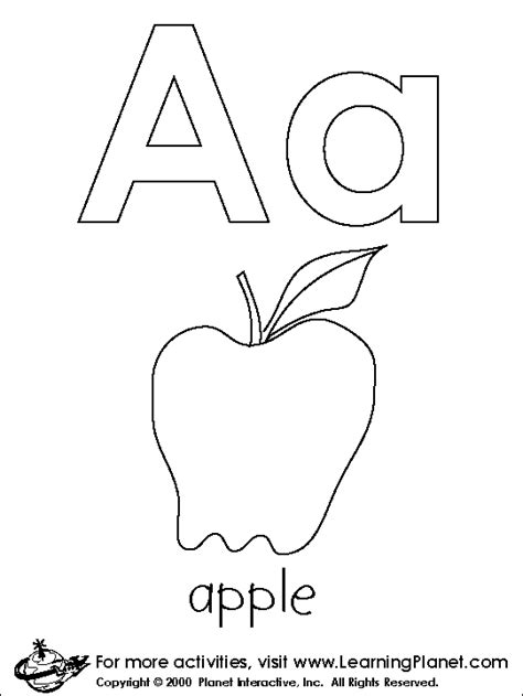 Coloring Pages For The Letter A Coloring Pages For Kids The Letter A Coloring Pages