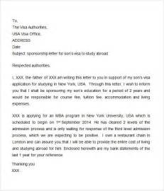 Sponsorship Letter Parents Visa Sponsorship Letter 7 Free For Word