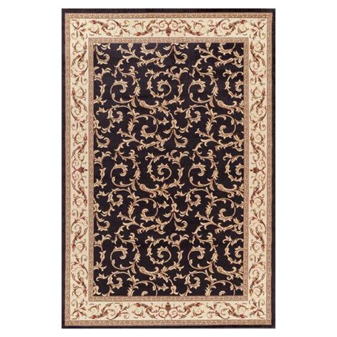 7 X 9 Area Rugs Shop Concord Global Valencia Black Indoor Area Rug Common 7 X 9 Actual 6 58 Ft W X