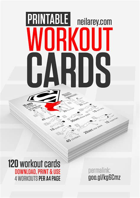 free printable workout cards download print and use 120 visual workout cards - Fitness Gift Card Template
