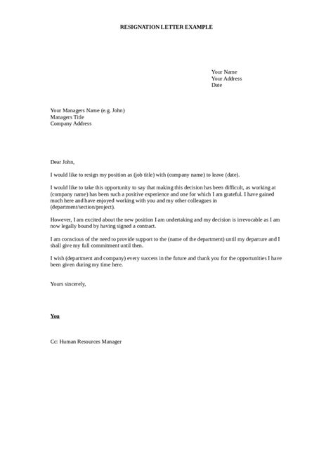 resignation letter resignation letter format for it company personal reason resignation letter