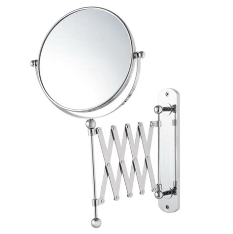 magnifying mirror for bathroom wall wall mounted magnifying mirror brushed nickel home