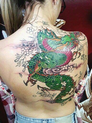 tattoo dragão oriental costas drag 227 o e cerejeira 4 176 sess 227 o ainda em progresso acho