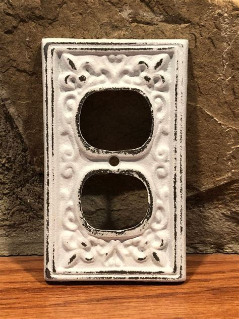 shabby chic outlet covers cover outlet cover white shabby chic outlet cover