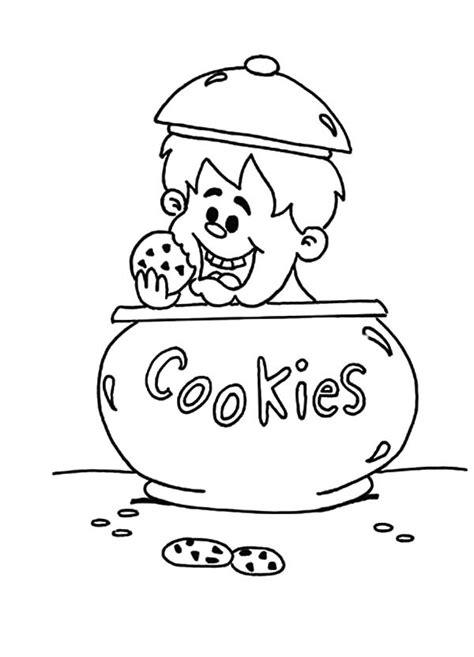 95 cookie jar coloring page printable free