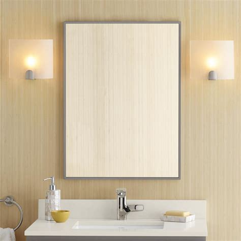 ronbow contemporary solid wood framed bathroom mirror 23 quot taylor contemporary solid wood framed bathroom mirror
