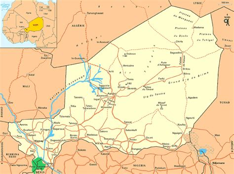 africa map niger maps of niger