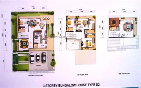floor plan bungalow type greenpark bungalow type d2 floorplan penang property talk