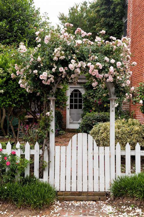 beautiful flower garden gate ideas  add curb appeal