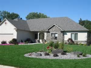 Landscape Rock Lakeville Mn Lakeville Front Yard Complete Landscape Install Pahl S