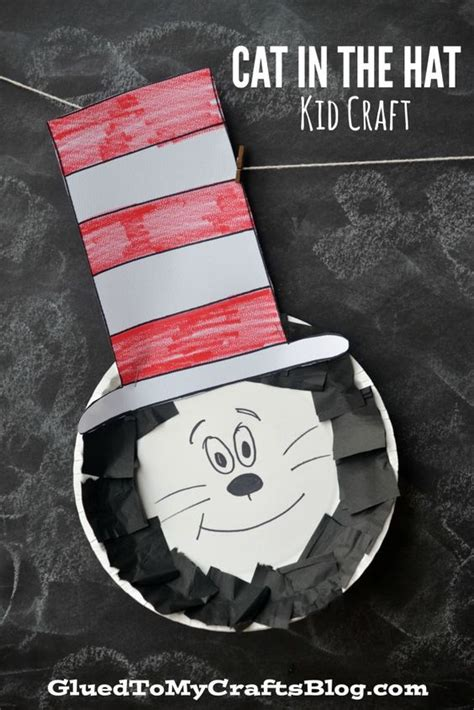 Dr Seuss Paper Plate Craft - paper plate dr seuss cat in the hat kid craft