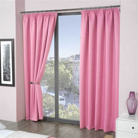 Pink Blackout Curtains Pink Thermal Bedroom Blackout Curtains Plain Pink Drapes