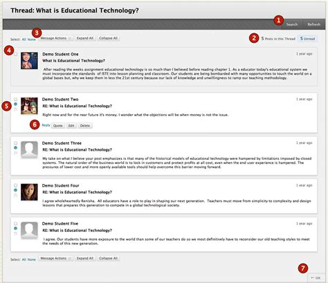 message to discussion boards blackboard student support