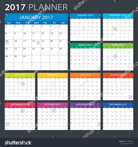 calendar planner july 2017 stock vector illustration of 2017 planner illustration vector template 2017
