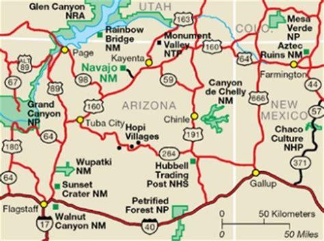nau map navajo national monument