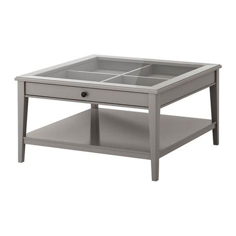ikea liatorp coffee table gray glass practical