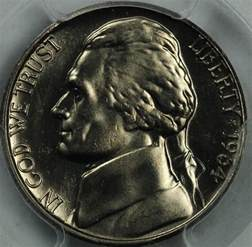 1964 d jefferson nickel pcgs ms66