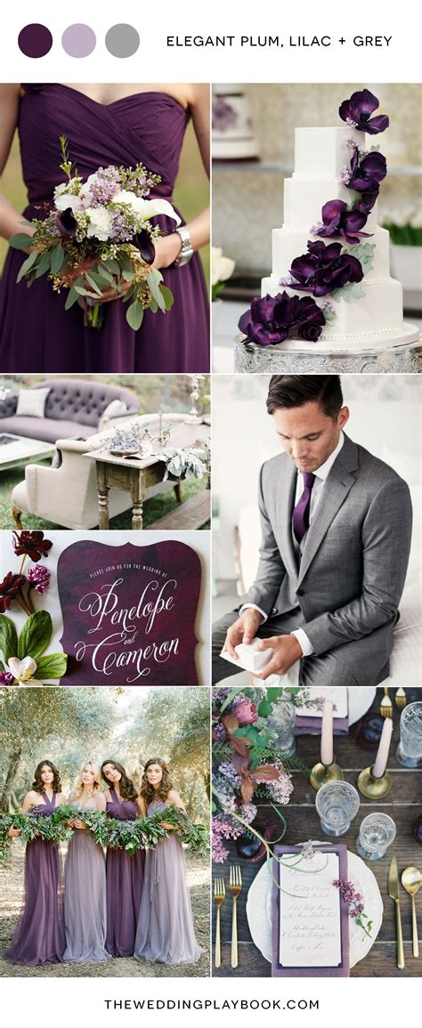 plum lilac and grey wedding inspiration grey weddings lilacs and gray