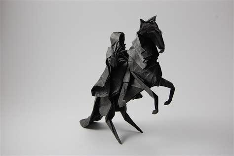 origami nazgul tutorial fantasy origami from the lord of the rings and the hobbit