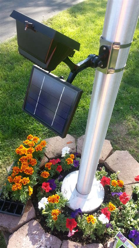 commercial solar landscape lighting commercial led solar flagpole light product details