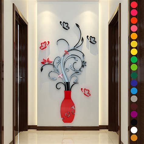 au 3d removable flowers wall sticker home