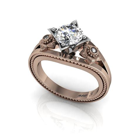 the valois 1 00 ct tw white sapphire 14k gold engagement