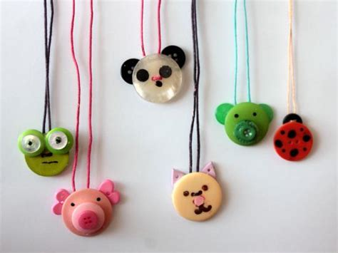 crafts with buttons for button crafts animal necklace ted s