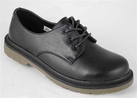 school shoes size 2 black leather look lace up school shoes size