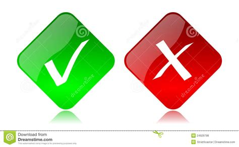 allow deny buttons and icons royalty free stock photos
