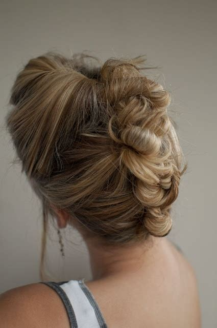 hairstyles with regular braids bun mohawk adorable i seriously love this hair and