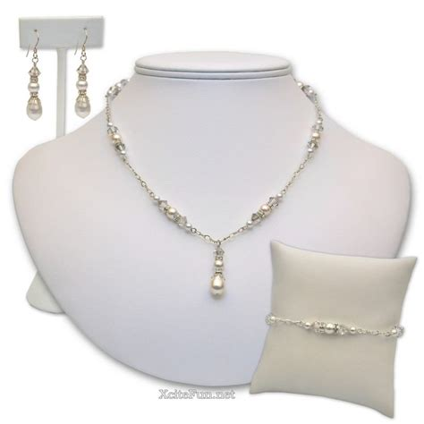 Handmade Bridal Jewelry - pearl bridal jewelry set handmade xcitefun net