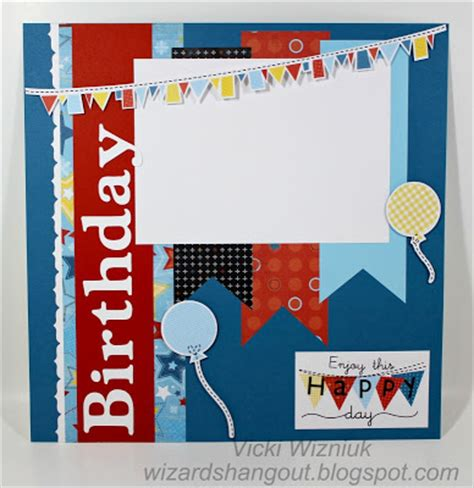layout design for birthday wizard s hangout a fanfare birthday layout