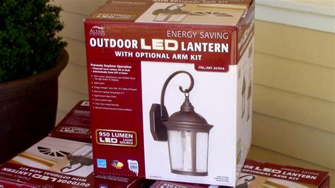 costco led porch light how to install costco s altair outdoor led lantern