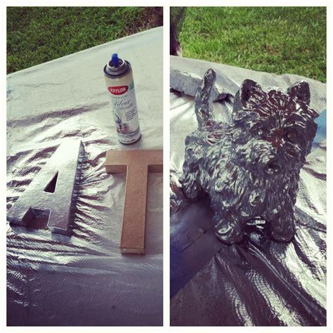 spray painting cardboard krylon silver foil metallic spray paint cardboard letters