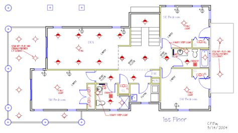 electrical floor plan new house plans