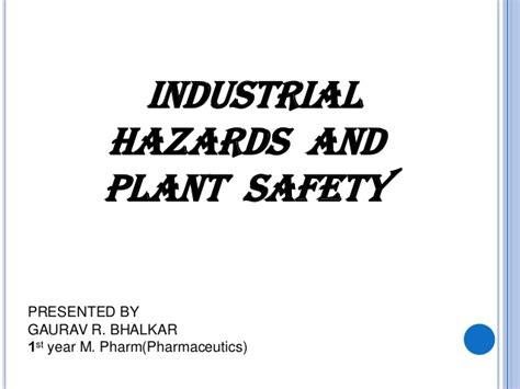 plant safety powerpoint templates plant safety ppt presentation of industrial hazards