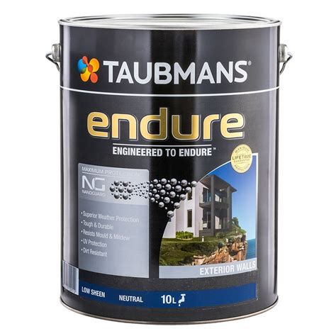 taubmans exterior paint colours taubmans endure 10l neutral low sheen exterior paint