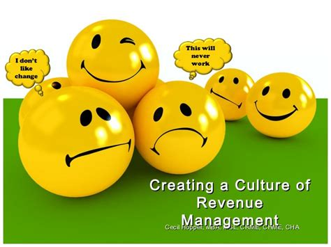 Mba In Revenue Management by Creating A Culture Of Revenue Management