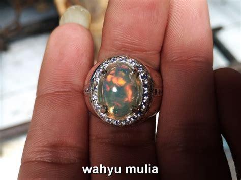 Kalimaya Teh Bensin Banten batu cincin permata kalimaya asli kode 719