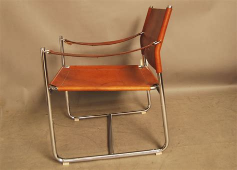 leather chrome sling chair sold chrome and leather vintage sling chair 28d051